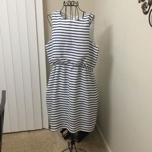 J. Crew striped sleeveless dress size 14